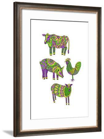 Moo?Baa..Oink-Jennifer Camilleri-Framed Giclee Print
