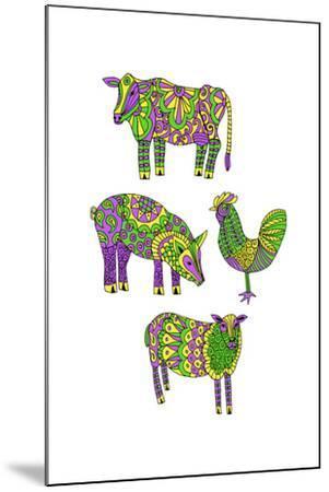 Moo?Baa..Oink-Jennifer Camilleri-Mounted Giclee Print