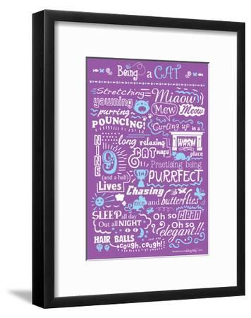 Busy Being a Cat-Busy Being-Framed Giclee Print