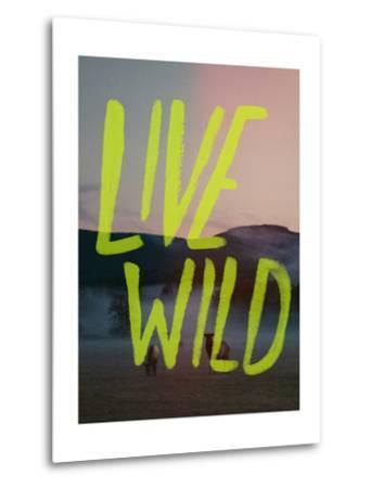 Live Wild Elk-Leah Flores-Metal Print