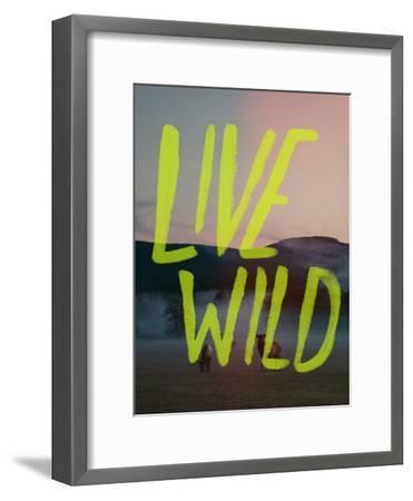 Live Wild Elk-Leah Flores-Framed Giclee Print