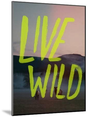 Live Wild Elk-Leah Flores-Mounted Giclee Print