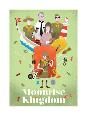 Moonrise Kingdom-Chris Wharton-Framed Giclee Print