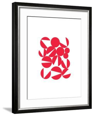 Abstract Rouge-Catherine Aguilar-Framed Giclee Print