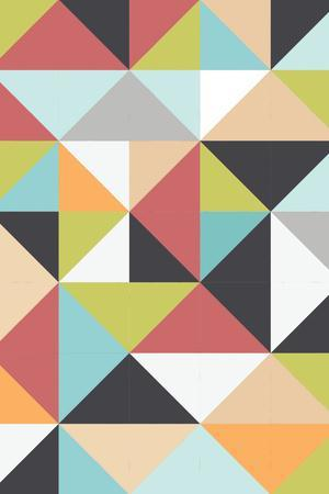 Geometric Winter-Moha London-Stretched Canvas Print