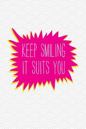 Keep Smiling-Moha London-Stretched Canvas Print