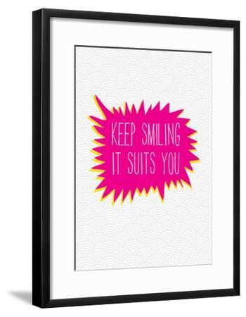 Keep Smiling-Moha London-Framed Giclee Print