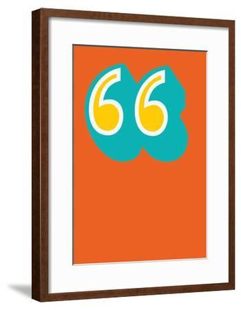 Quotes-Moha London-Framed Giclee Print