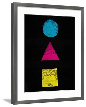 Head Shapes-Dale Edwin Murray-Framed Giclee Print