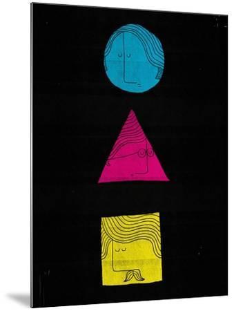 Head Shapes-Dale Edwin Murray-Mounted Giclee Print