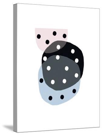 Dotty Circles-Seventy Tree-Stretched Canvas Print