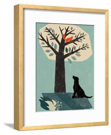 Dog and Squirrel-Rocket 68-Framed Giclee Print
