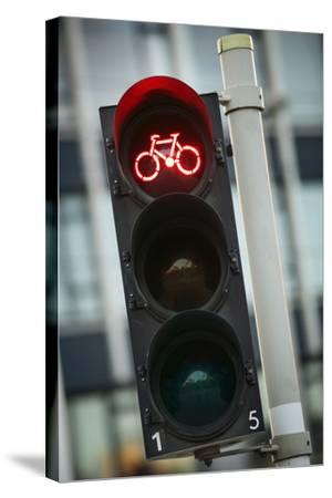 Bicycle Traffic Light-Jon Hicks-Stretched Canvas Print