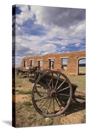 Dilapidated Wagon-DLILLC-Stretched Canvas Print