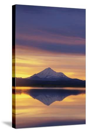 Mountain Reflected in Lake-DLILLC-Stretched Canvas Print