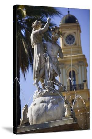 Fountain Dedicated to Simon Bolivar in Santiago-Jon Hicks-Stretched Canvas Print