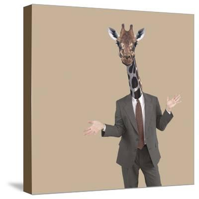 Businessman Sticking Neck Out-DLILLC-Stretched Canvas Print
