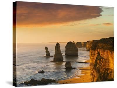 The Twelve Apostles at Dusk-Jon Hicks-Stretched Canvas Print