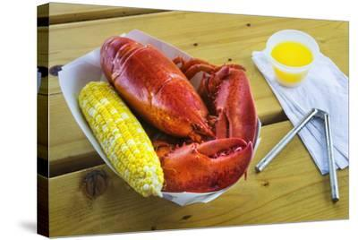 Maine Lobster and Corn on the Cob-Jon Hicks-Stretched Canvas Print