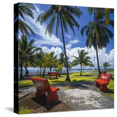 Parque De La Juventud on the Waterfront in Colon.-Jon Hicks-Stretched Canvas Print