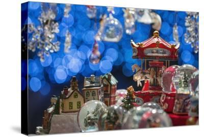 Christmas Ornaments for Sale in the Verona Christmas Market, Italy.-Jon Hicks-Stretched Canvas Print