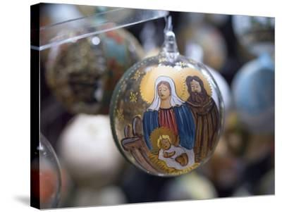 Baubles for Sale in the Viennese Christmas Market, Vienna, Austria.-Jon Hicks-Stretched Canvas Print