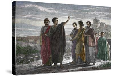 Banishment of Greek Philosopher Aristotle from Athens in 323 BC--Stretched Canvas Print