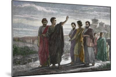 Banishment of Greek Philosopher Aristotle from Athens in 323 BC--Mounted Giclee Print