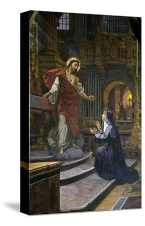 Jesus Appears to St. Margaret Mary Alacoque--Stretched Canvas Print