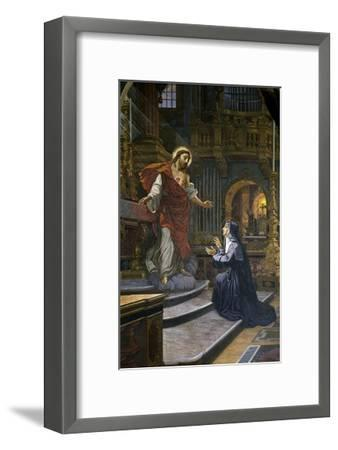 Jesus Appears to St. Margaret Mary Alacoque--Framed Giclee Print