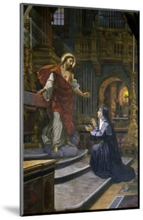 Jesus Appears to St. Margaret Mary Alacoque--Mounted Giclee Print