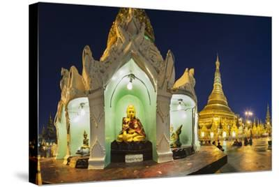 Shwedagon Paya at Dusk-Jon Hicks-Stretched Canvas Print