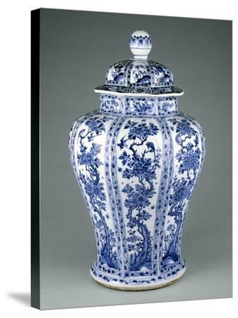 Ming Dynasty Blue and White Lidded Vase--Stretched Canvas Print