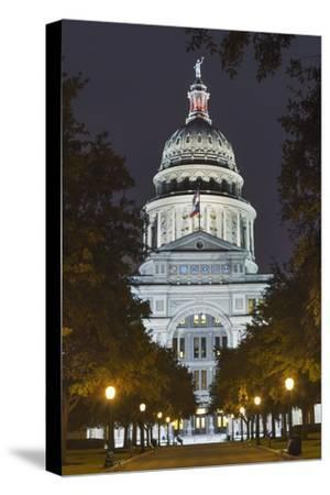 The Texas State Capitol Building in Austin, Texas.-Jon Hicks-Stretched Canvas Print