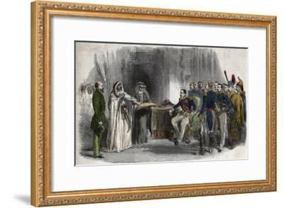 Liberation of Abd-El-Kader by Napoleon III-Stefano Bianchetti-Framed Giclee Print