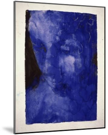 Small Blue Head-Graham Dean-Mounted Giclee Print