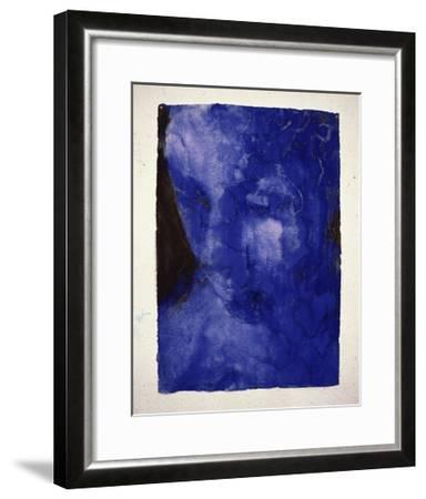 Small Blue Head-Graham Dean-Framed Giclee Print