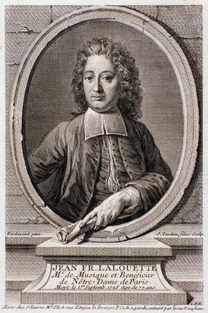Portrait of Jean Francois Lalouette--Stretched Canvas Print