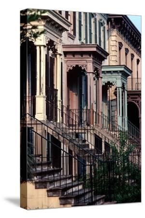 Historic Savannah, Bull Street, Savannah, Georgia, Usa, July 1983-Alain Le Garsmeur-Stretched Canvas Print
