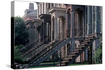 Historic Savannah, Bull Street, Savannah, Georgia, Usa, July 1983-Alain Le Garsmeur-Stretched Canvas Print