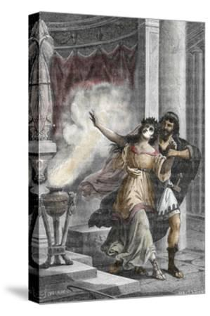 Roman Emperor Heliogabalus Kidnapping a Vestal--Stretched Canvas Print