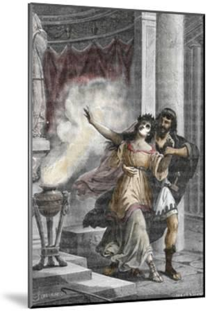 Roman Emperor Heliogabalus Kidnapping a Vestal--Mounted Giclee Print