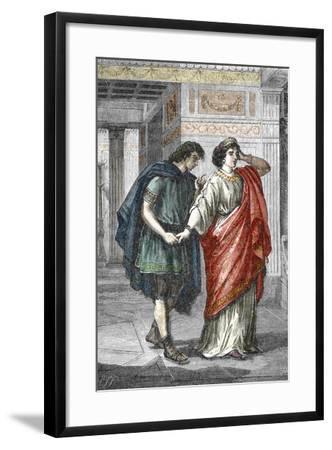 Portrait of Empress Valeria Messalina with Her Lover Gaius Silius, 1St Century--Framed Giclee Print