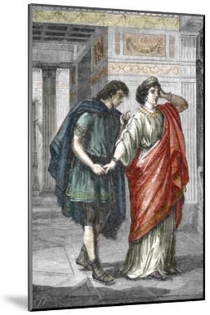 Portrait of Empress Valeria Messalina with Her Lover Gaius Silius, 1St Century--Mounted Giclee Print