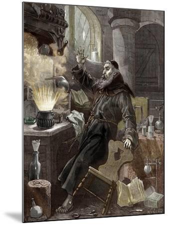 Berthold Schwarz Discovering Gunpowder--Mounted Giclee Print