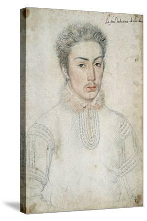 Portrait of Francois De Vendome - by Francois Clouet--Stretched Canvas Print