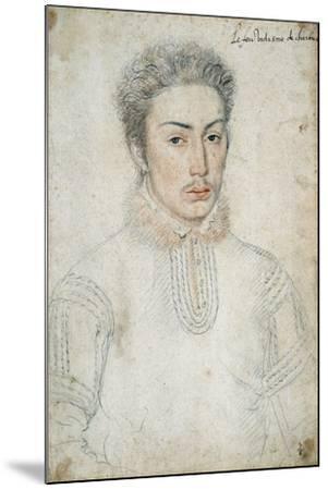 Portrait of Francois De Vendome - by Francois Clouet--Mounted Giclee Print