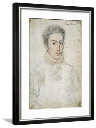 Portrait of Francois De Vendome - by Francois Clouet--Framed Giclee Print