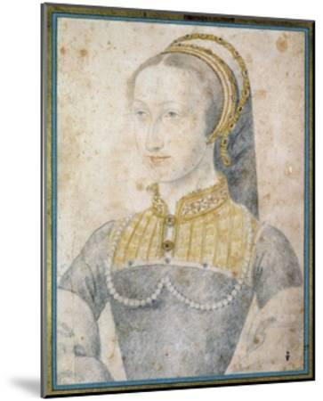 Portrait of Jeanne D'albret - by Francois Clouet--Mounted Giclee Print