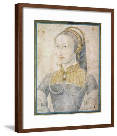 Portrait of Jeanne D'albret - by Francois Clouet--Framed Giclee Print